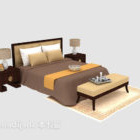 Southeast Asia Solid Wood Double Bed