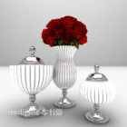 Mobili in vaso di fiori in stile sud-est asiatico