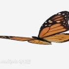 Żółty motyl realistyczny
