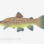 水族館の点在する黄色い魚の動物