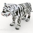 Hvide Tiger Zebra mønstre