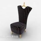 Chaise longue con schienale alto maculato