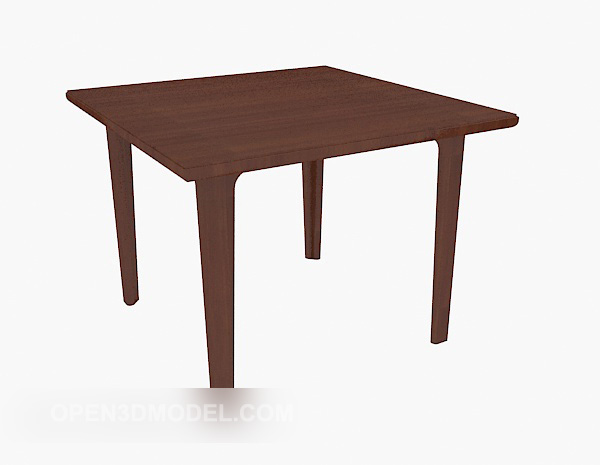 Square Solid Wood Dining Table Free 3d Model Max Open3dmodel 525149