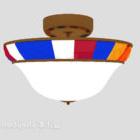 Lampadario in vetro colorato