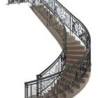 高級曲線階段鉄手すり