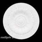 Okrągła biała płyta gipsowa