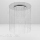 Lampadario con ombreggiatura in vetro