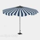 مظلة مخططة في الهواء الطلق