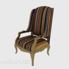 Gestreifter Stoff Home Chair