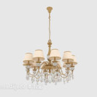 Elegante lampadario in oro generoso