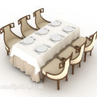 Elegante tavolo per sei persone