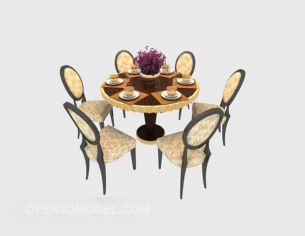 5 People Round Dining Table