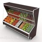 Grande congelatore refrigerato supermercato