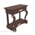 طاولة جانبية تقليدية أوروبية خشبية