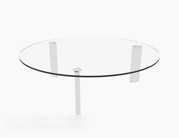 Transparent Round Glass Coffee Table