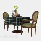 Tischstuhl für zwei Personen mit Stoffbezug