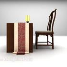 كرسي مكتب خشبي صيني نموذجي