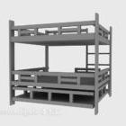 سرير خشبي لأعلى ولأسفل