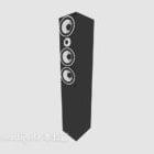 Vertical Black Speaker