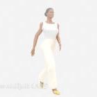 Personaggio donna camicia bianca