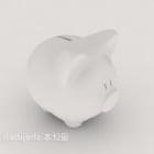 Bahan Plastik Piggy Bank Putih