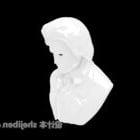 Weiße Statue Büste