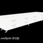 خزانة تلفزيون بيضاء يمول أبيض مطلي