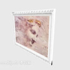White Photo Frame Hanging Painting