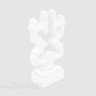Set di figurine bianche