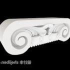 Composant de colonne en pierre blanche