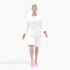 女性の白いドレスのキャラクター
