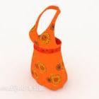 女性のドレスオレンジ色