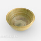 زخرفة وعاء الخشب