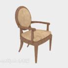 Wood Armrest Home Chair