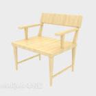 Wood Armrest Lounge Chair