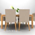 طاولة طعام منزلية مصنوعة من الخشب