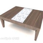 Tremønstret sofabord