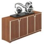 خزانة جانبية خشبية مع ديكور مجردة