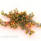 Żółty kwiat krzewy drzewo