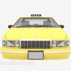Żółta taksówka o wspólnym kształcie