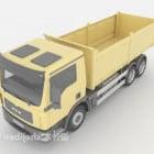 Yellow Truck Vehicle
