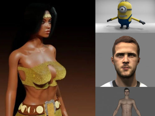 10 Blender Personajes Colección de modelos 3D gratis