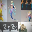 10 Mermaid Rig 3D Models Collection