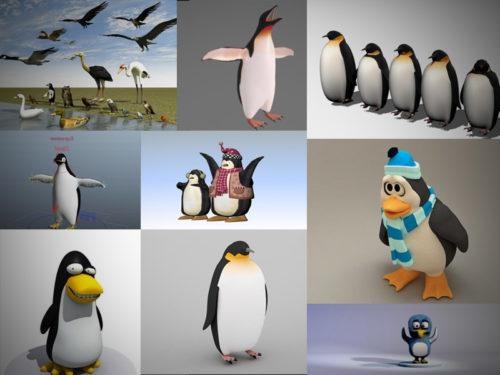 12 Penguin 3D -mallistoa