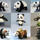 15 colección de modelos de oso panda 3d