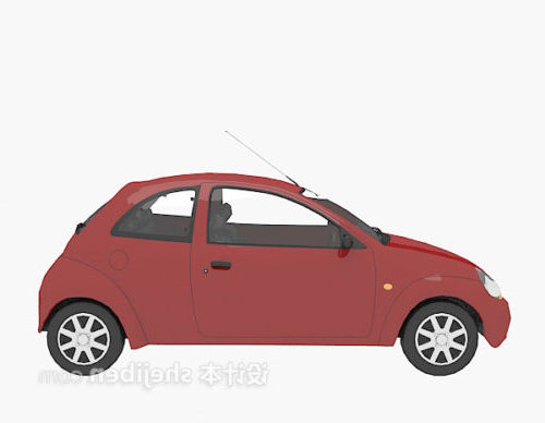 City Small Car Red Painted