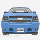 Blue Chevrolet Sedan Car