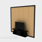 جدار تلفزيون صيني بسيط من الخشب