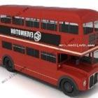 赤い1階建てバスVXNUMX