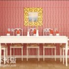 European White Dinning Table And Chair
